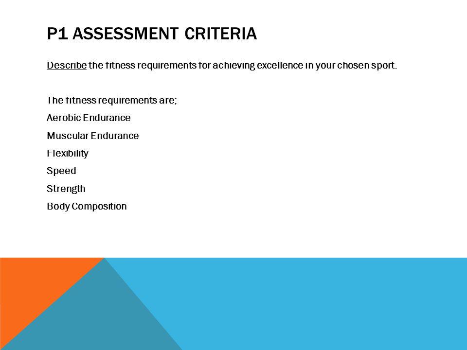 P1 Assessment Criteria
