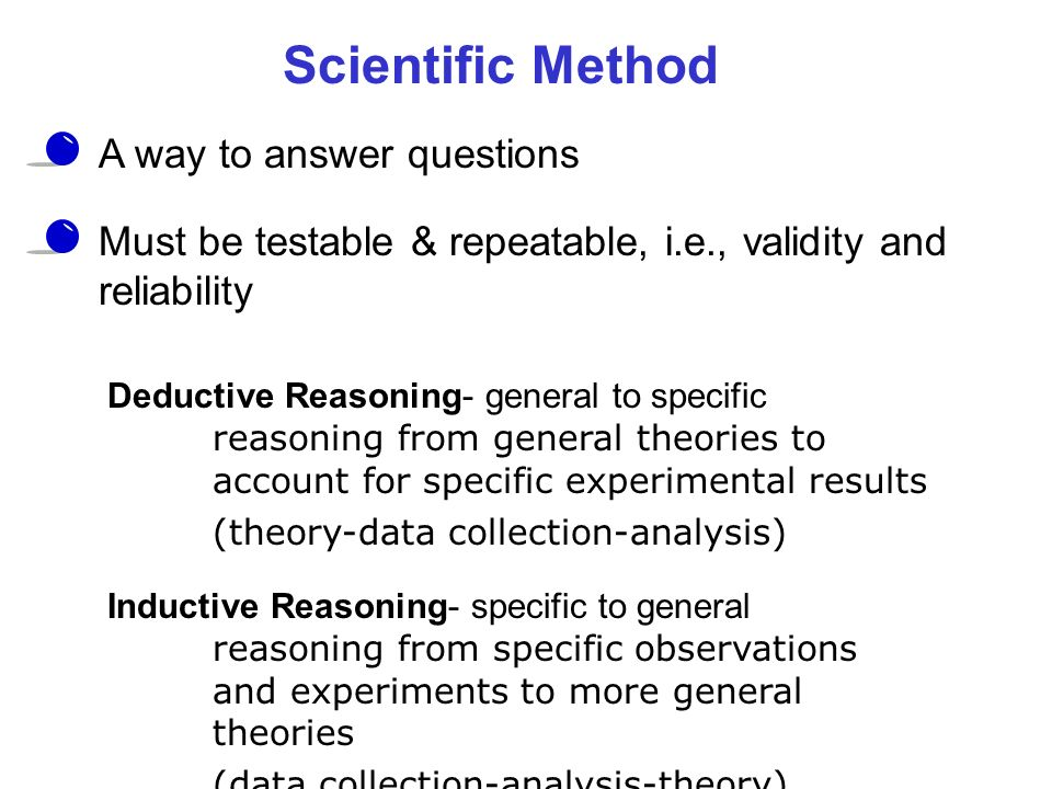 Scientific Method A way to answer questions