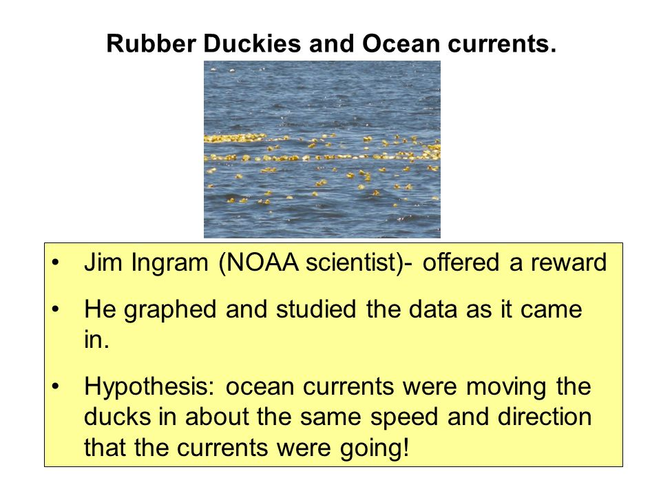 Rubber Duckies and Ocean currents.