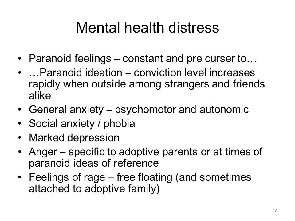 Mental health distress