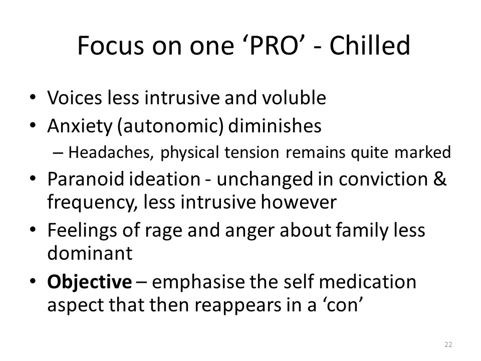 Focus on one 'PRO' - Chilled
