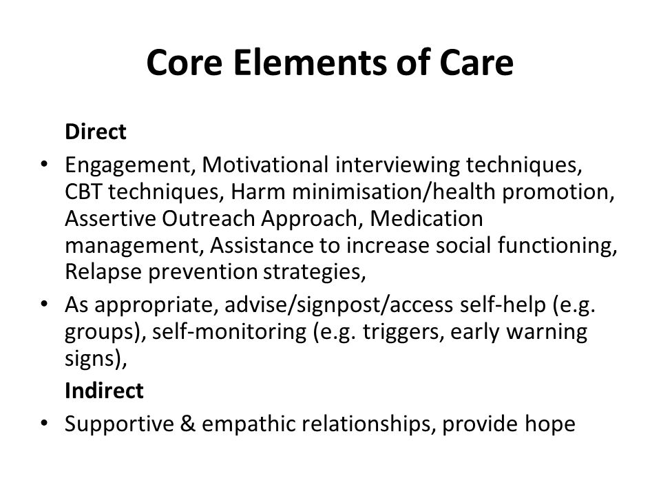 Core Elements of Care Direct