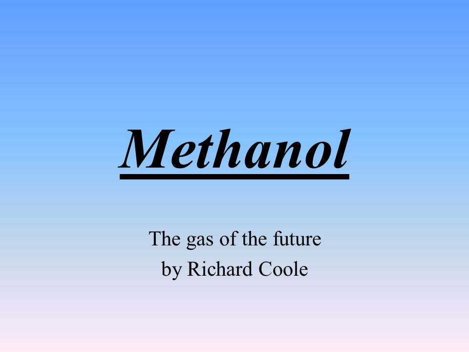 The gas of the future by Richard Coole