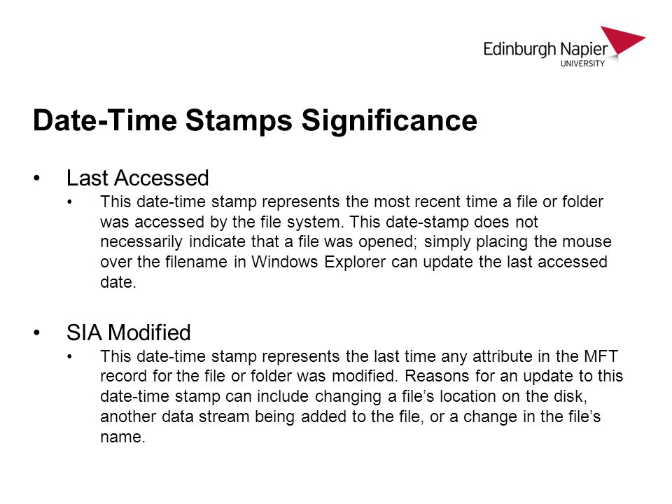 Date-Time Stamps Significance