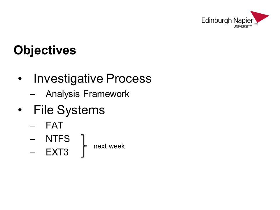 Investigative Process File Systems