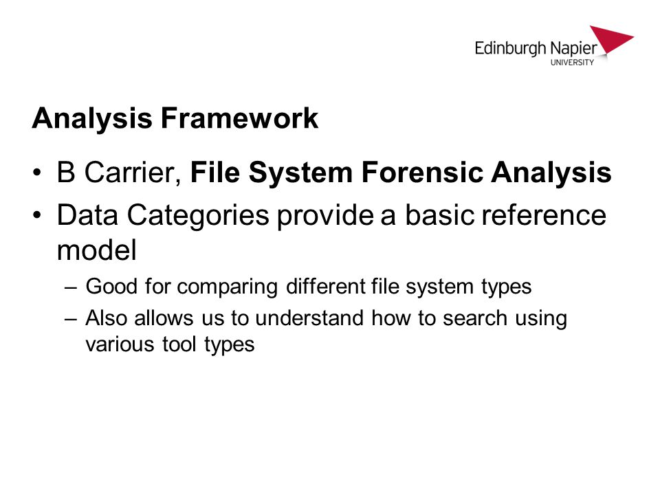 B Carrier, File System Forensic Analysis