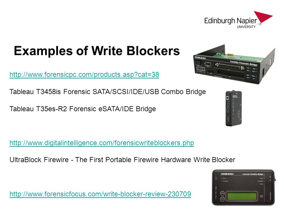 Examples of Write Blockers