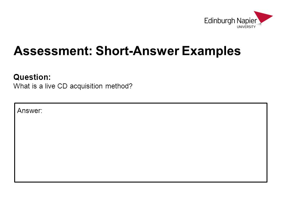 Assessment: Short-Answer Examples