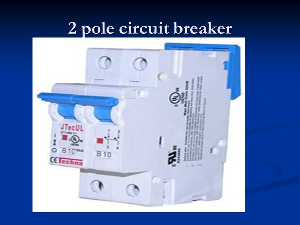 2 pole circuit breaker