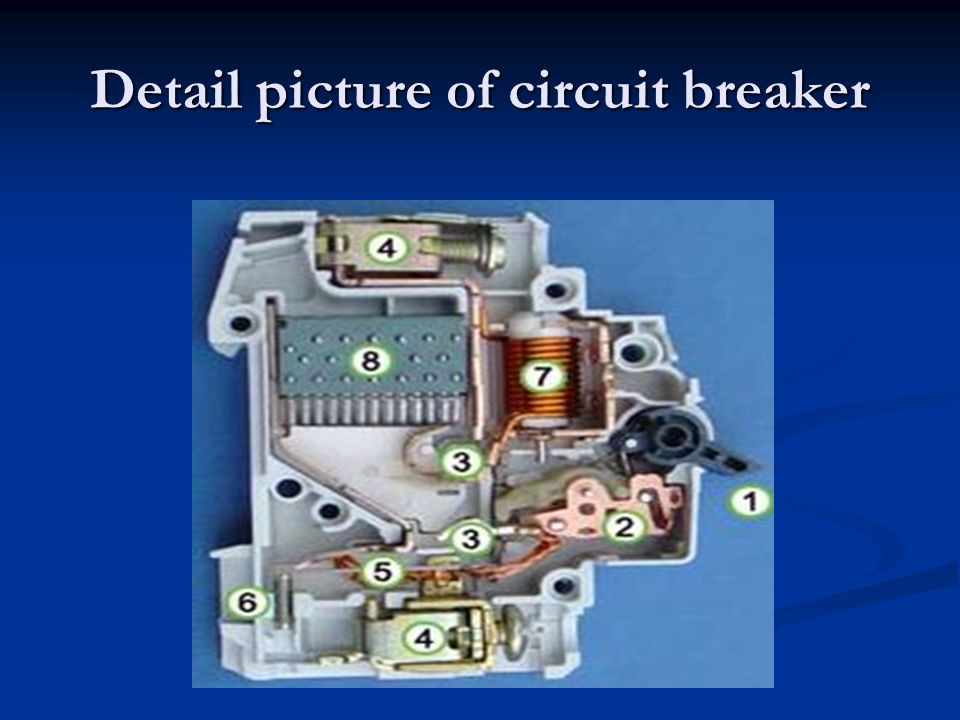 Detail picture of circuit breaker