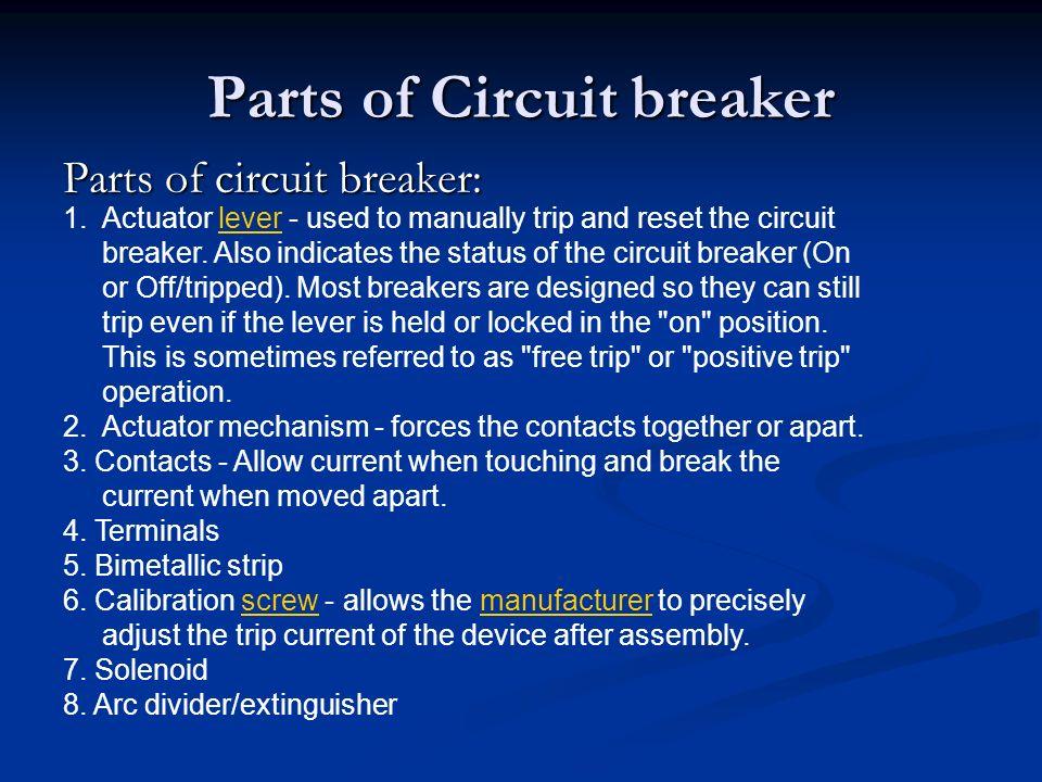 Parts of Circuit breaker
