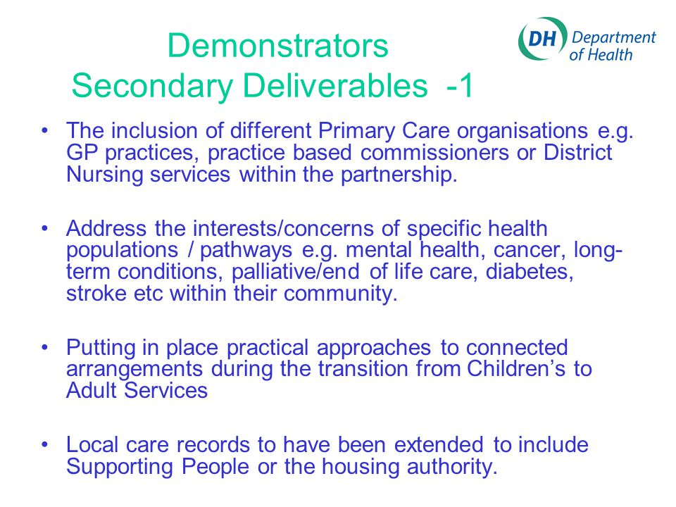 Demonstrators Secondary Deliverables -1