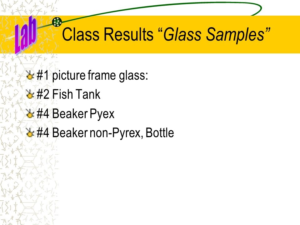 Class Results Glass Samples