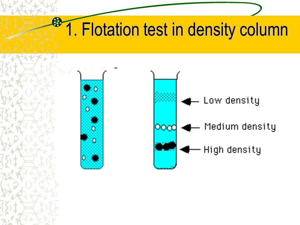 1. Flotation test in density column