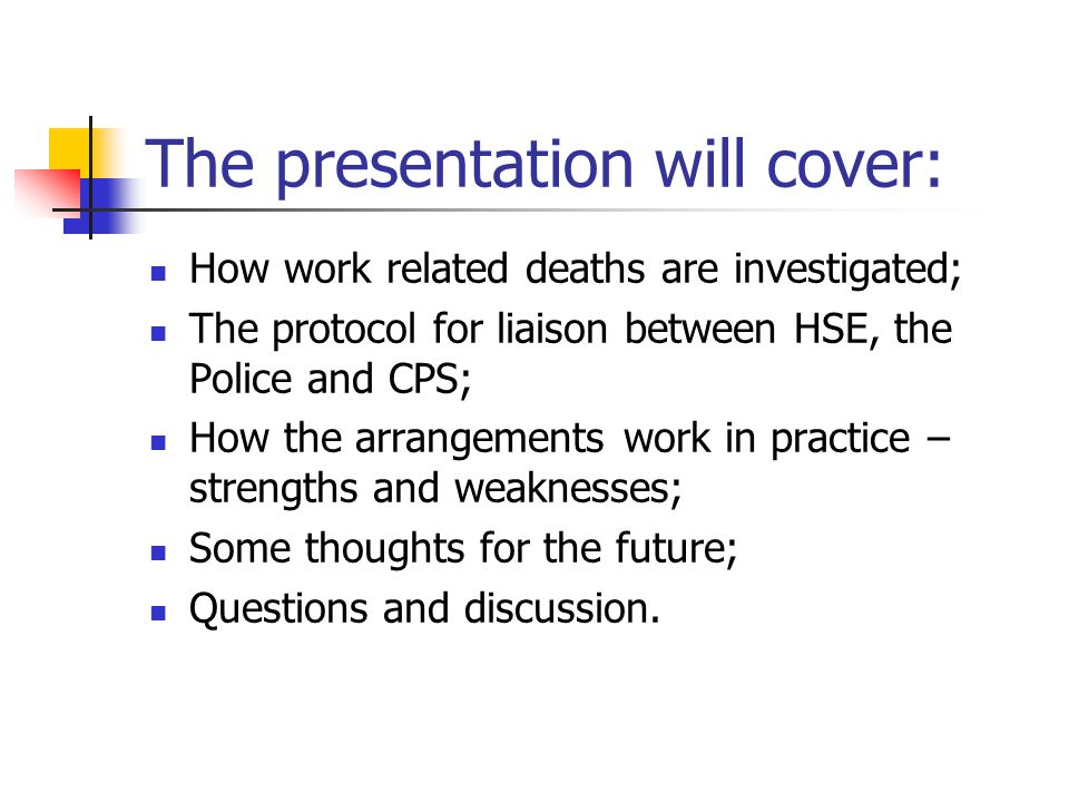 The presentation will cover: