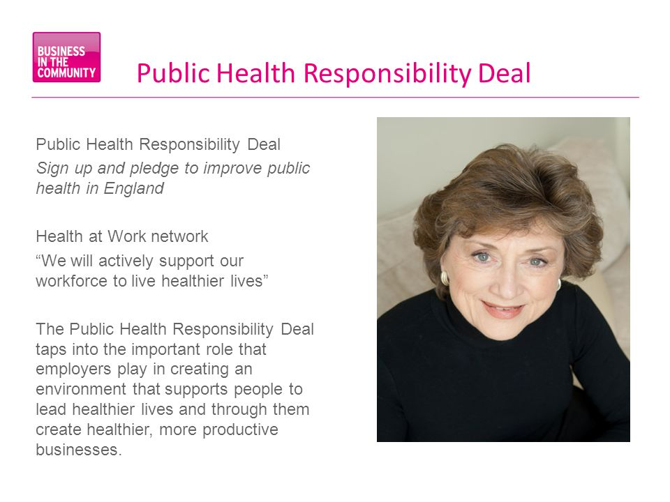 Public Health Responsibility Deal