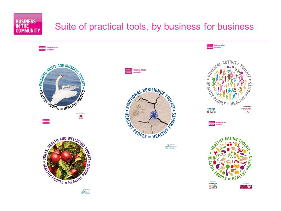 Suite of practical tools, by business for business