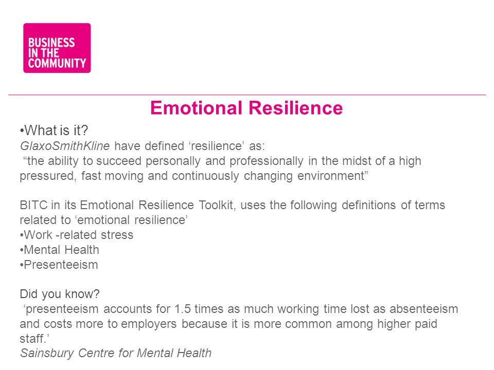 Emotional Resilience What is it