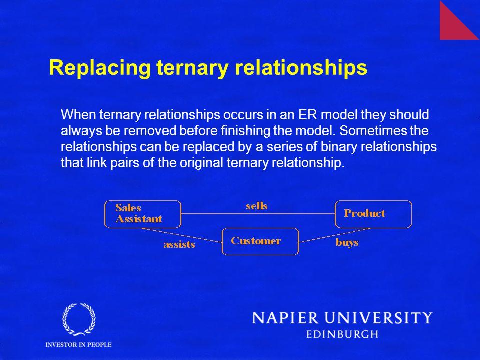 Replacing ternary relationships