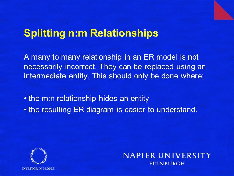 Splitting n:m Relationships