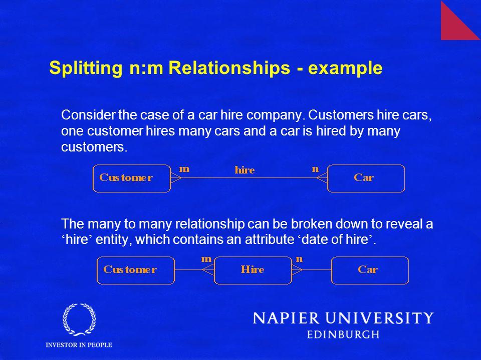 Splitting n:m Relationships - example