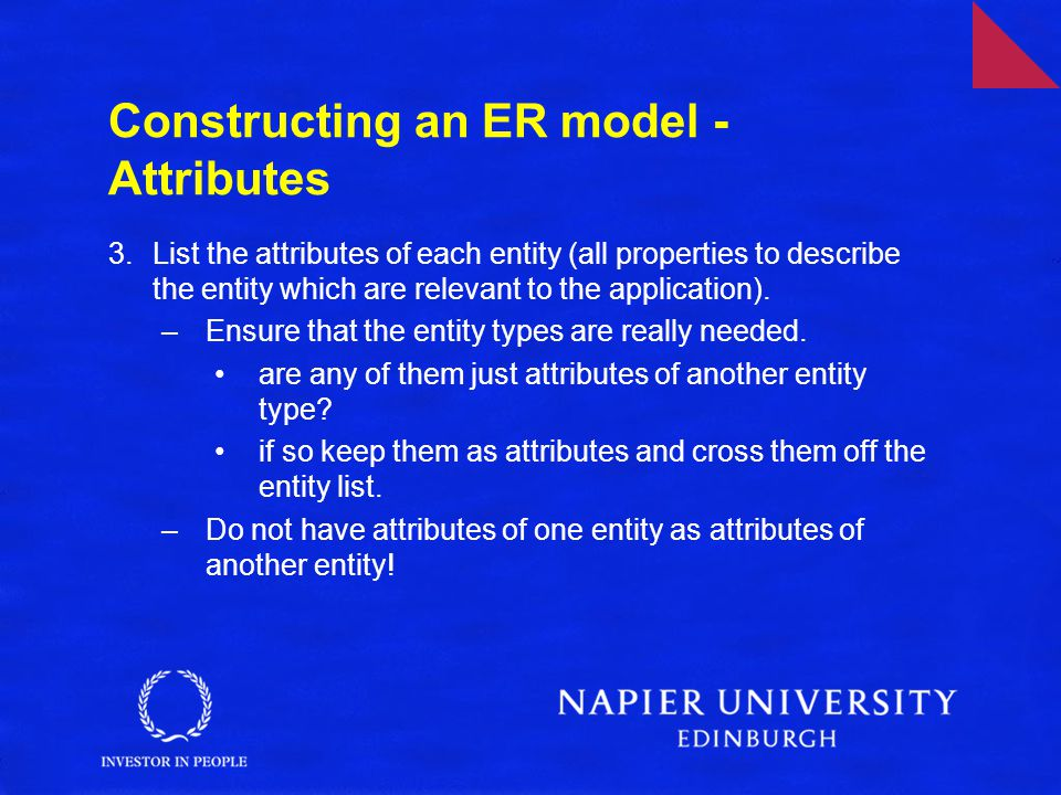 Constructing an ER model - Attributes