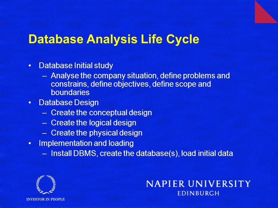 Database Analysis Life Cycle