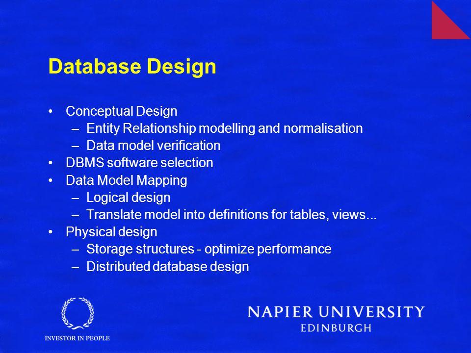 Database Design Conceptual Design