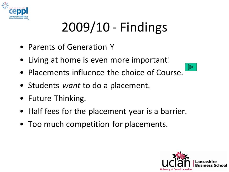 2009/10 - Findings Parents of Generation Y