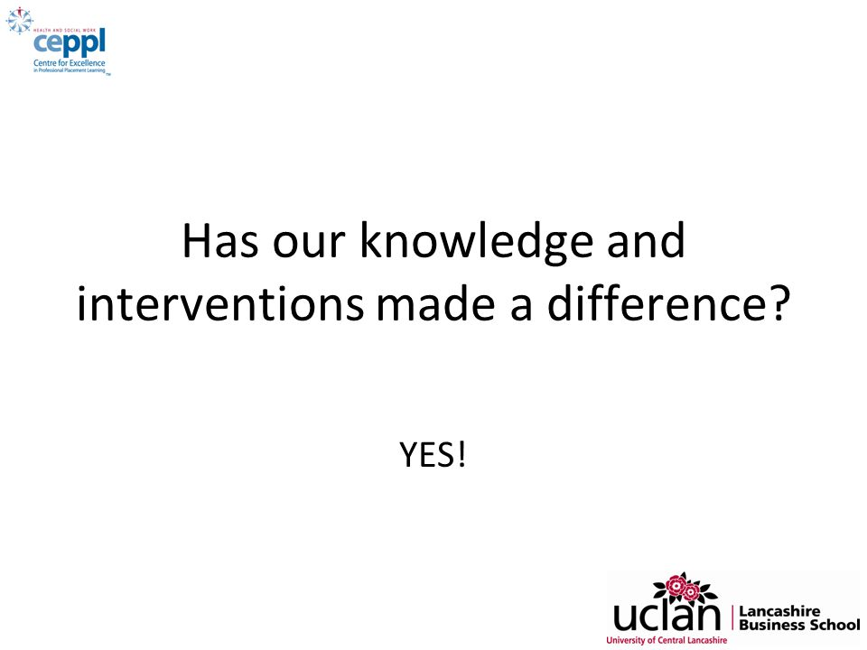 Has our knowledge and interventions made a difference
