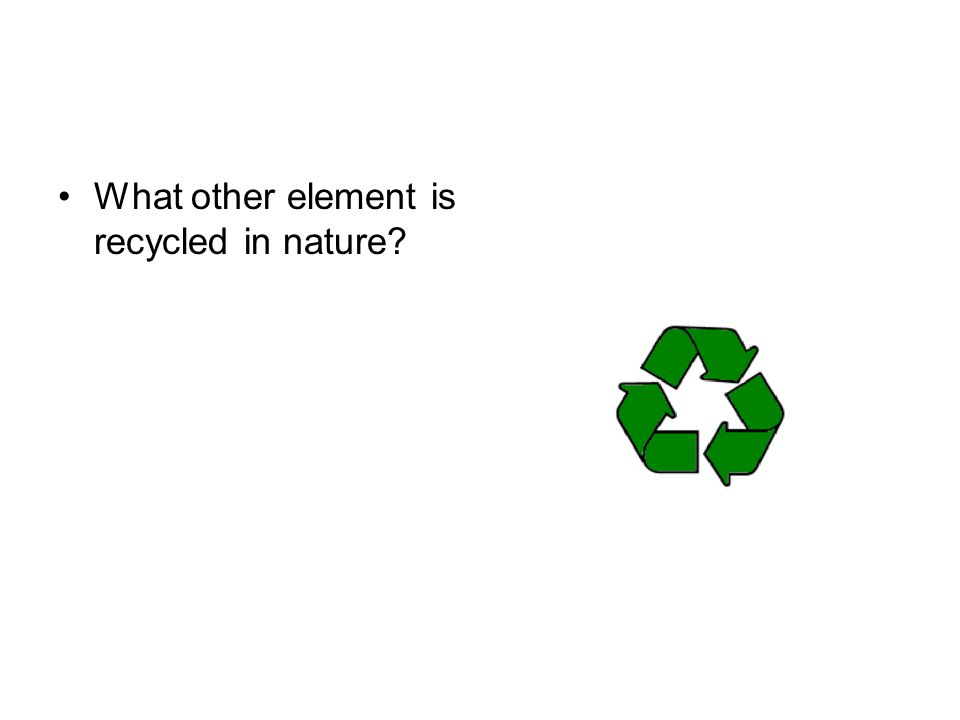 What other element is recycled in nature