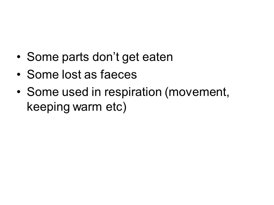 Some parts don't get eaten