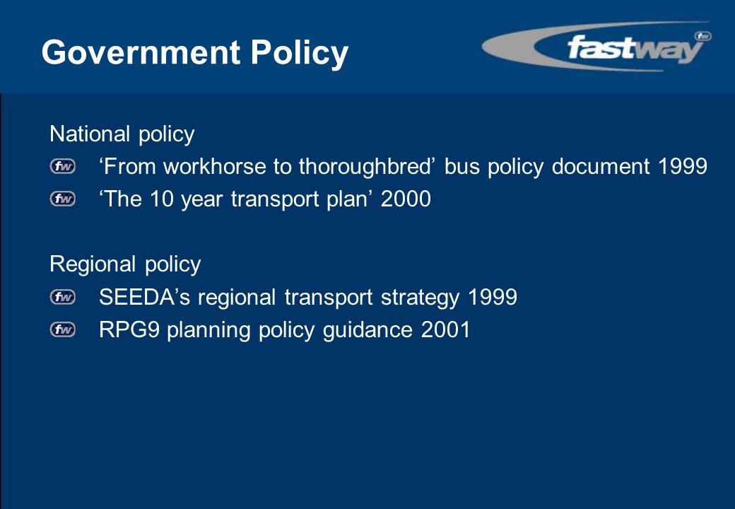 Government Policy National policy