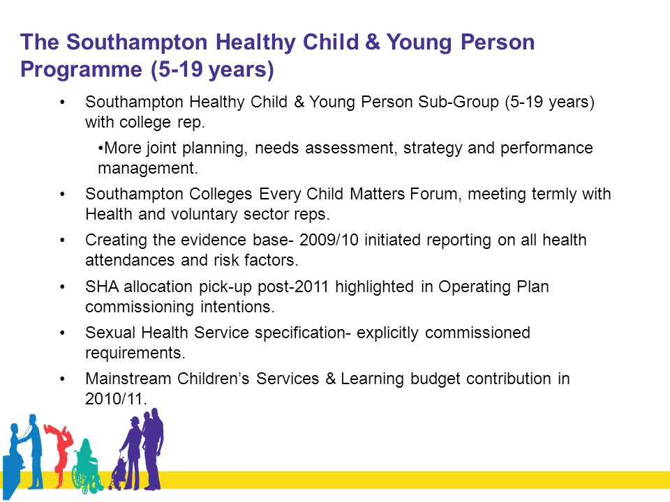 The Southampton Healthy Child & Young Person Programme (5-19 years)
