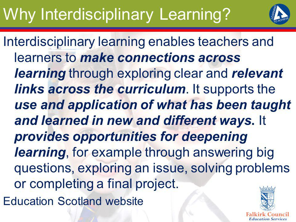 Why Interdisciplinary Learning