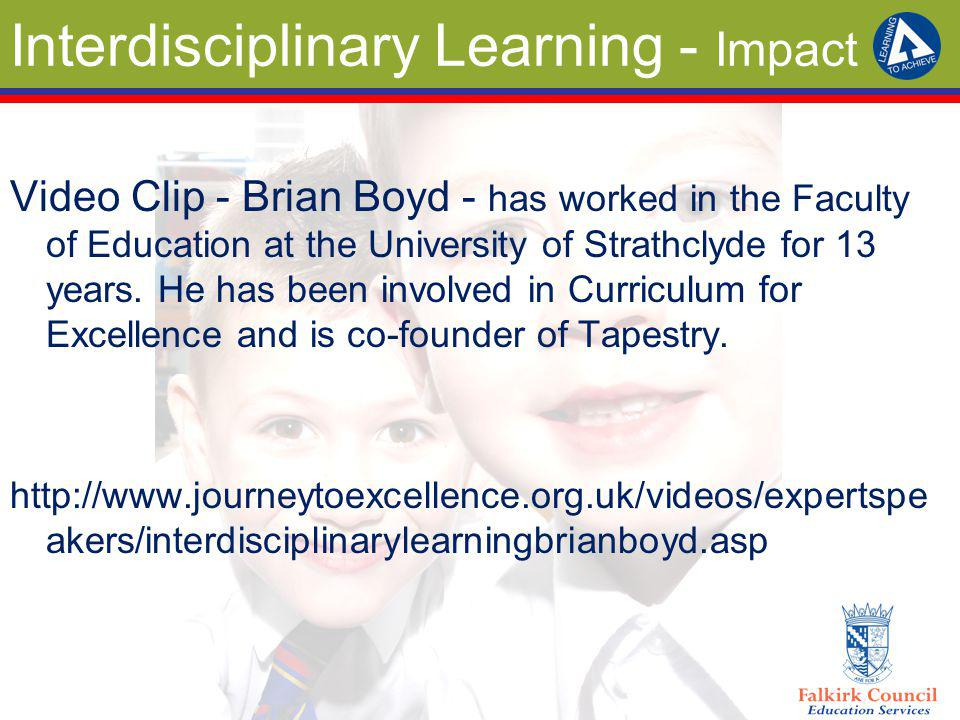 Interdisciplinary Learning - Impact