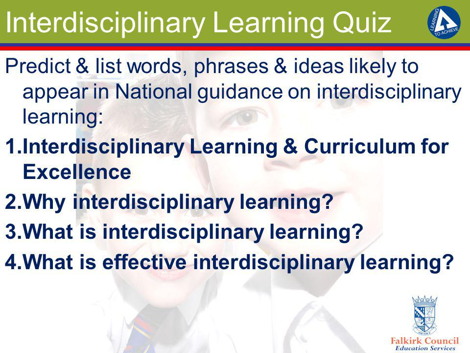 Interdisciplinary Learning Quiz