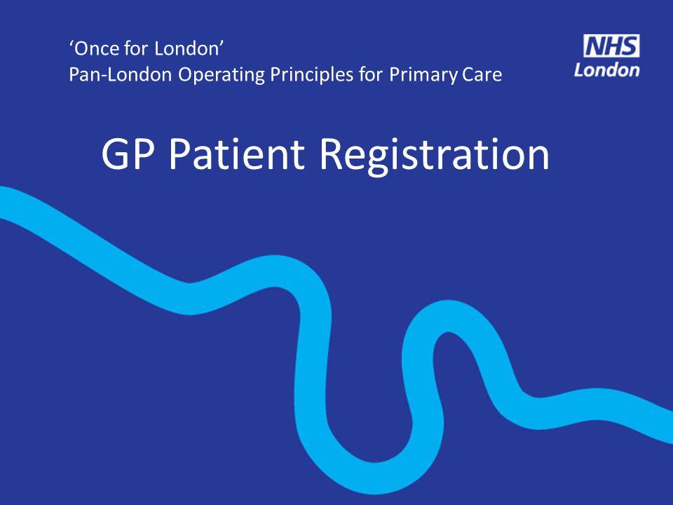 GP Patient Registration