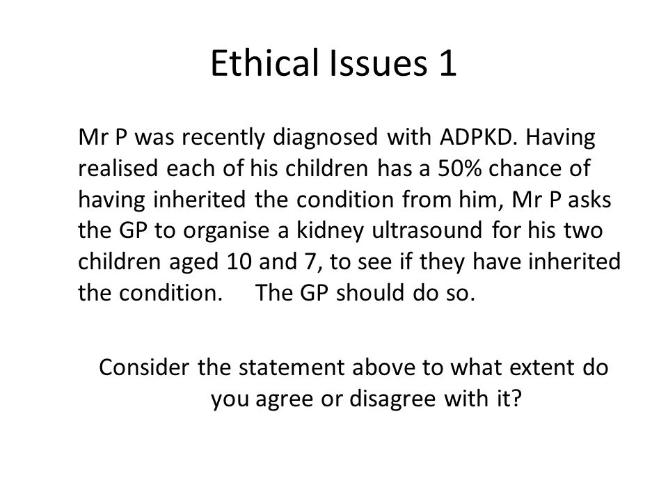 Ethical Issues 1