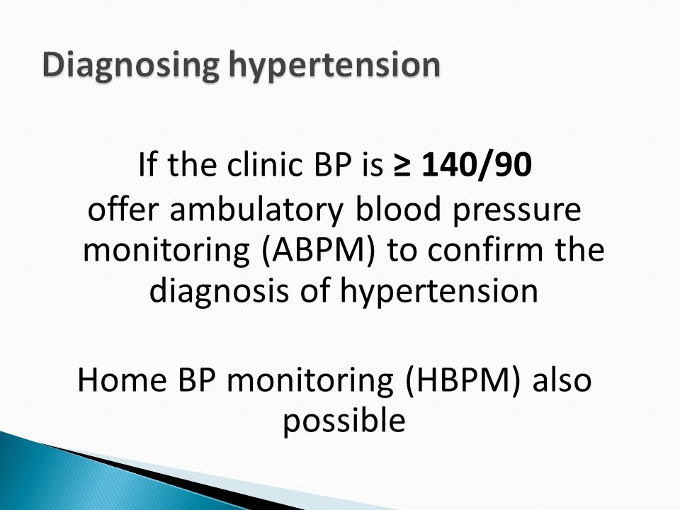 Diagnosing hypertension