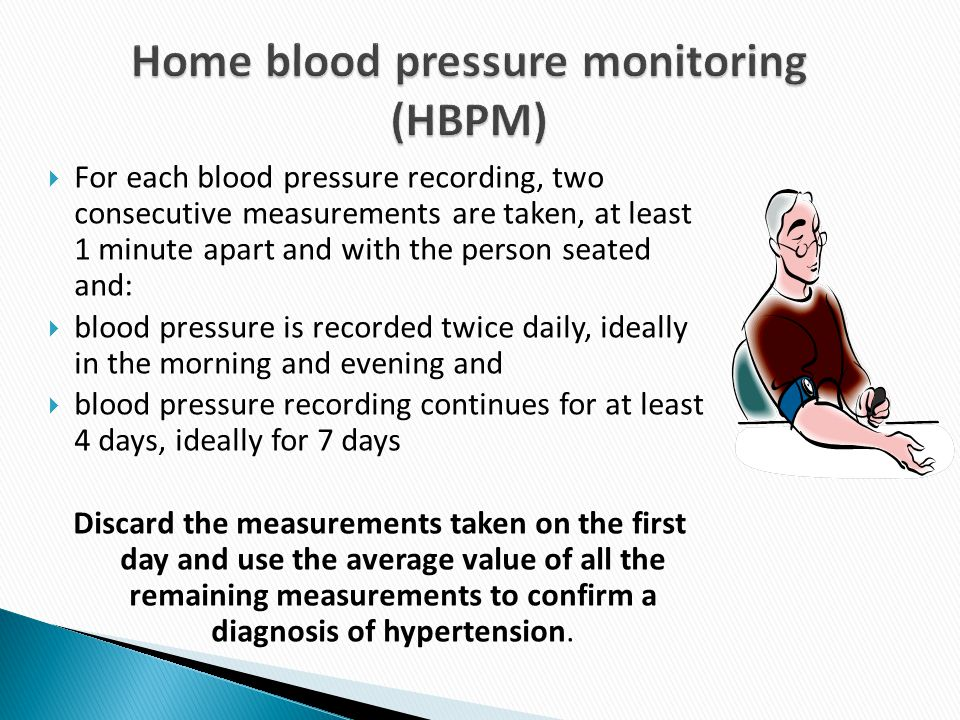 Home blood pressure monitoring (HBPM)