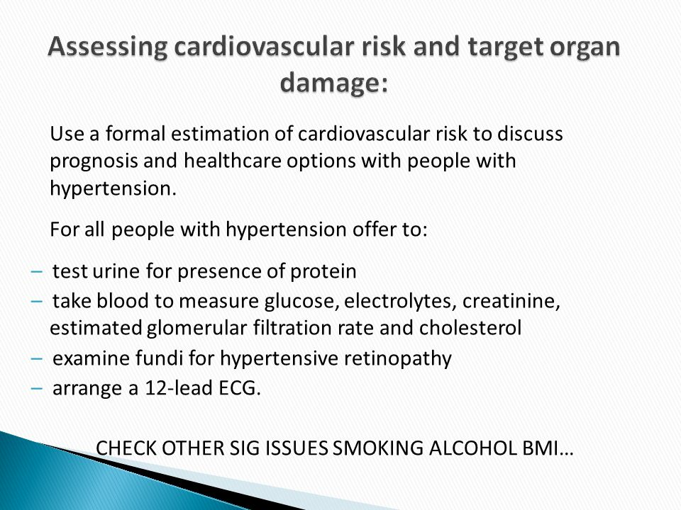 Assessing cardiovascular risk and target organ damage: