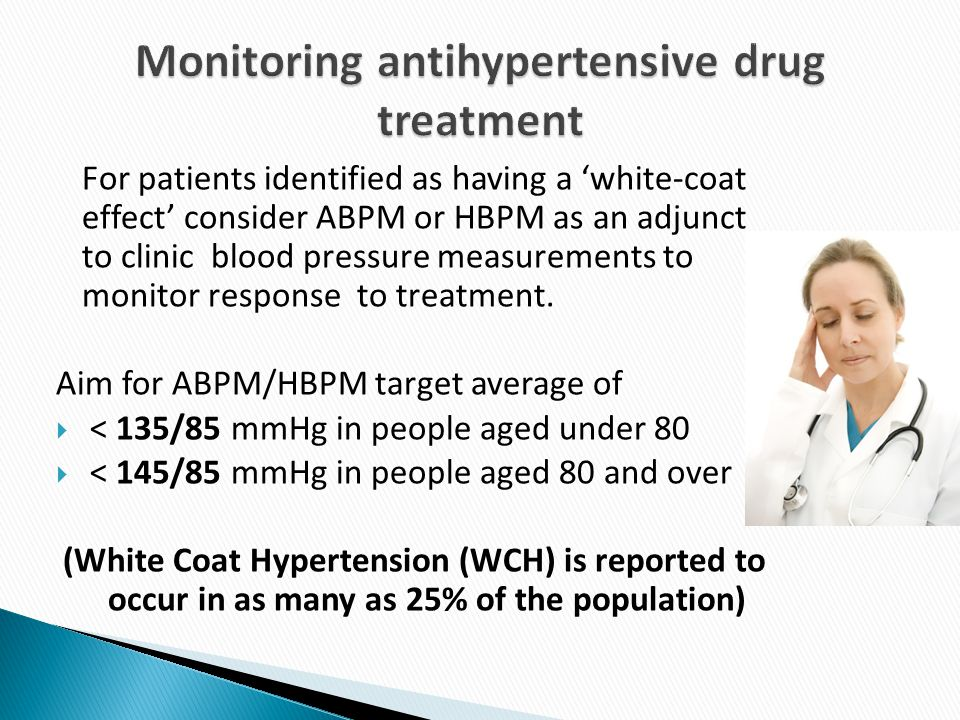Monitoring antihypertensive drug treatment