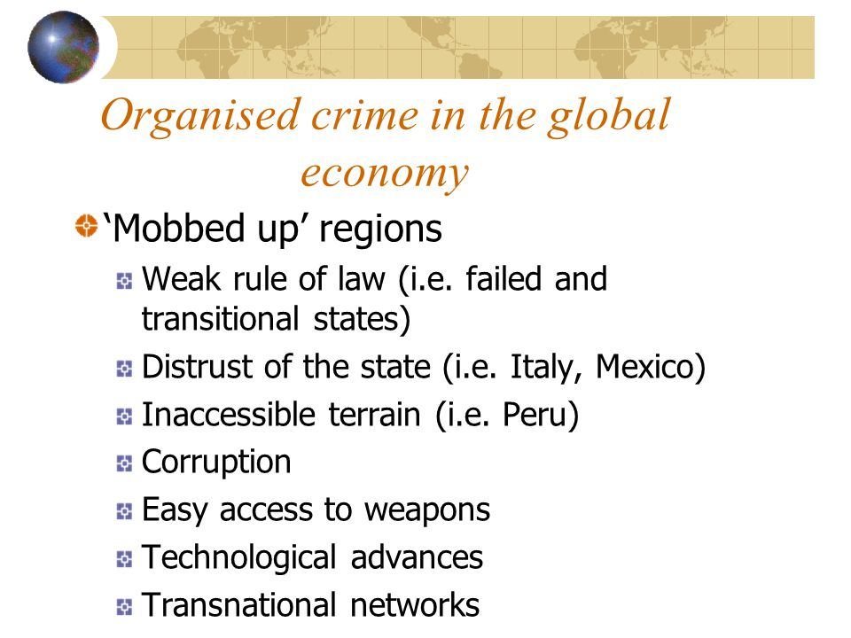 Organised crime in the global economy