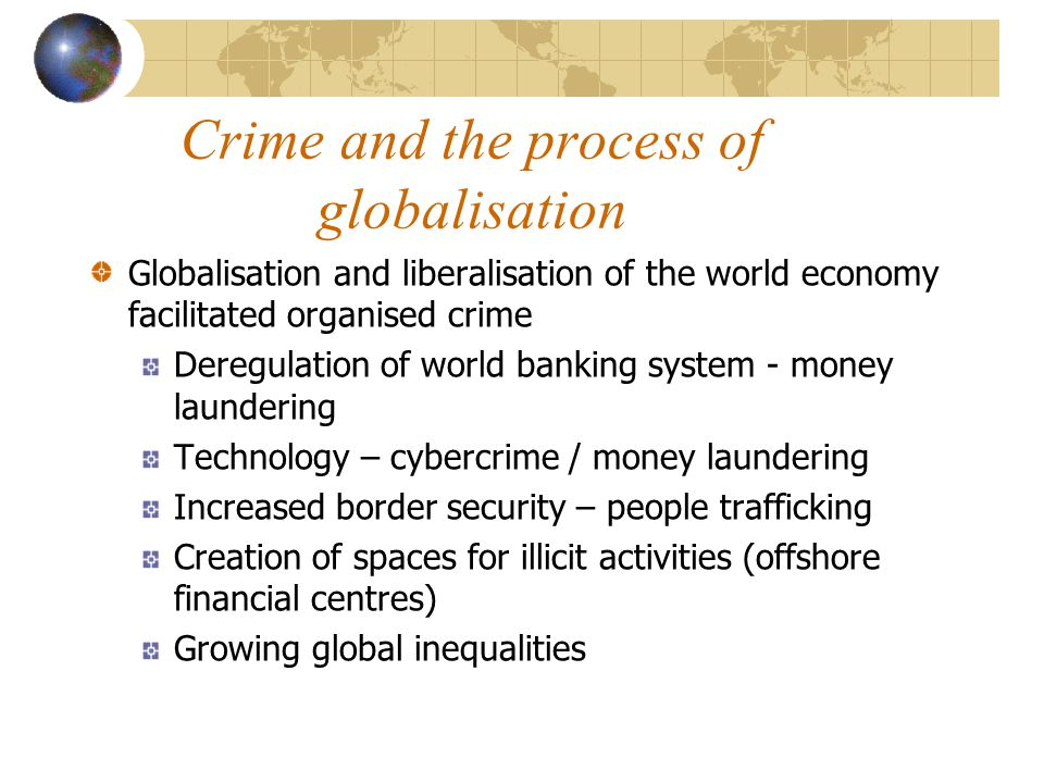 Crime and the process of globalisation