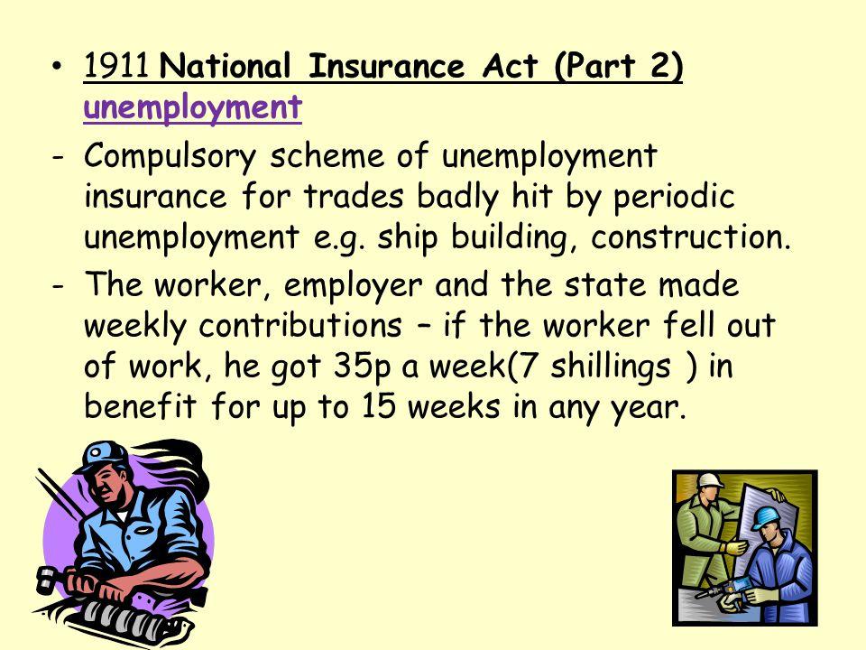 1911 National Insurance Act (Part 2) unemployment