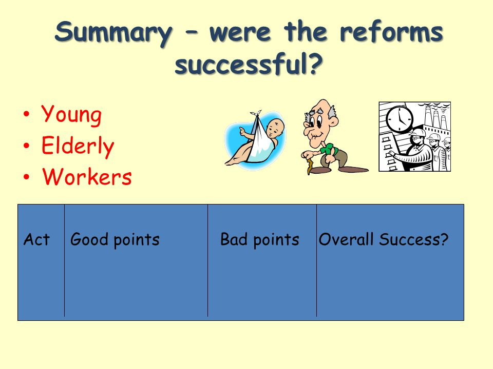 Summary – were the reforms successful