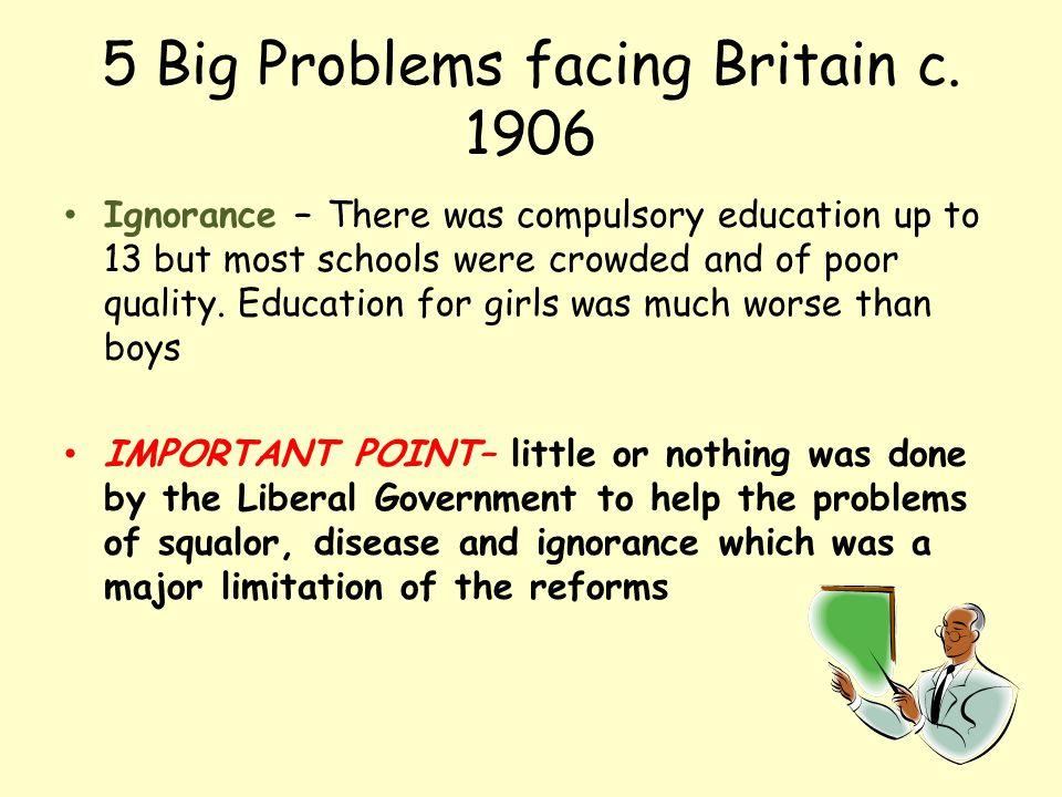 5 Big Problems facing Britain c. 1906