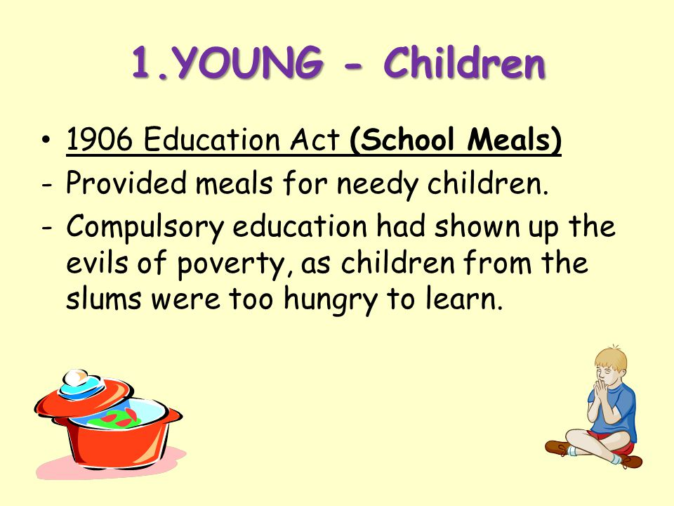 1.YOUNG - Children 1906 Education Act (School Meals)