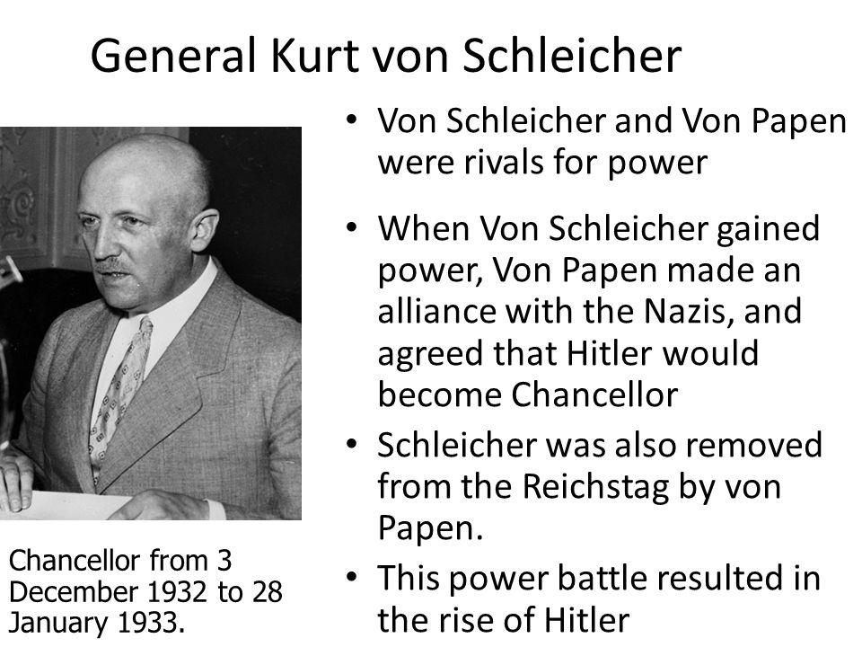 General Kurt von Schleicher